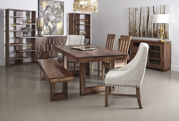Coast To Coast Brownstone 6pc Dining Room Set With Accent