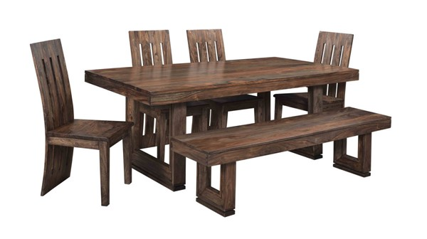 Coast To Coast Brownstone Brown 6pc Dining Room Set CTC-9823-DR-S1