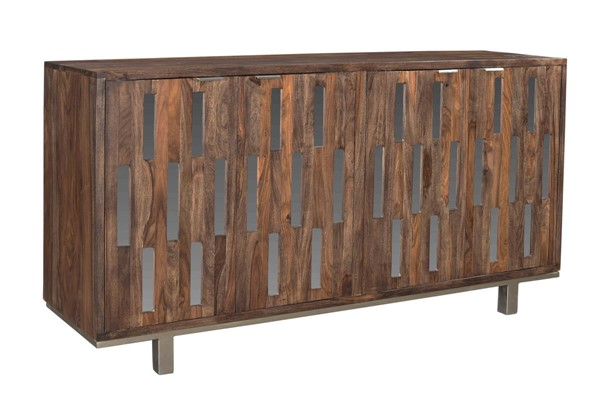 Coast to Coast Brownstone Brown Four Doors Credenza CTC-98255