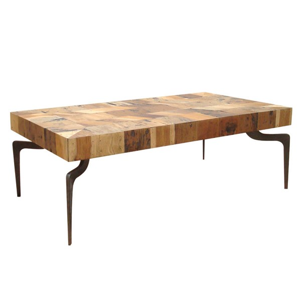 Castle Designs Gajel Natural Coffee Table With Metal Legs CTL-AX-1005-37