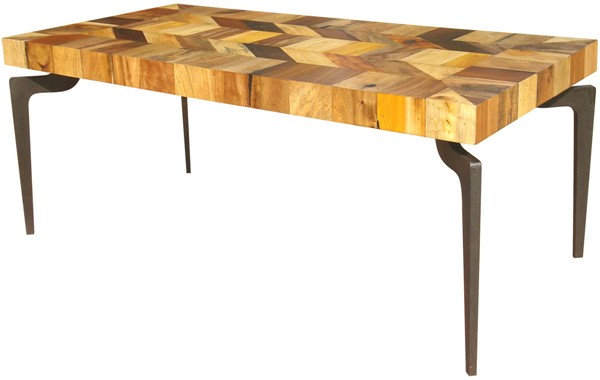 Castle Designs Gajel Natural Dining Table With Metal Legs CTL-AX-1006-37