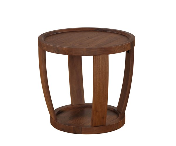 Castle Designs Dylan Natural Round End Table CTL-BC-1013-20