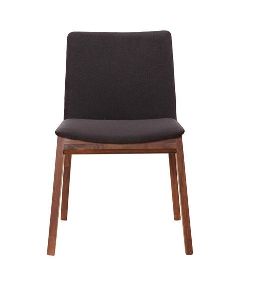 2 Moes Home Deco Black Dining Chairs MOE-BC-1016-02