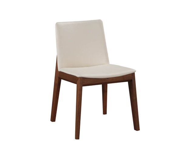 2 Moes Home Deco White Dining Chairs MOE-BC-1016-05