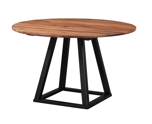 Castle Designs Tri Mesa Brown Round Dining Table CTL-BC-1032-03