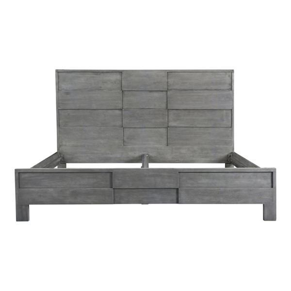 Moes Home Felix Grey Solid Wood Queen Bed MOE-BV-1008-15