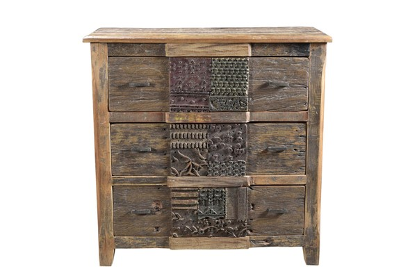 Moes Home Printer Natural 3 Drawers Chest MOE-BX-1022-24