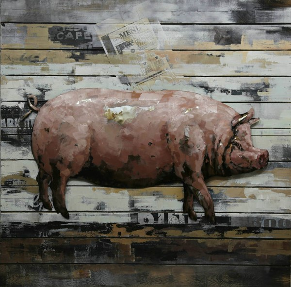 Moes Home Country Pig Wall Decor MOE-CM-1009-37