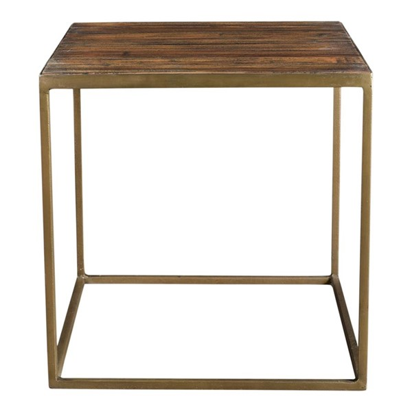 Moes Home Meadow Natural Wood Square Side Table MOE-DR-1303-24