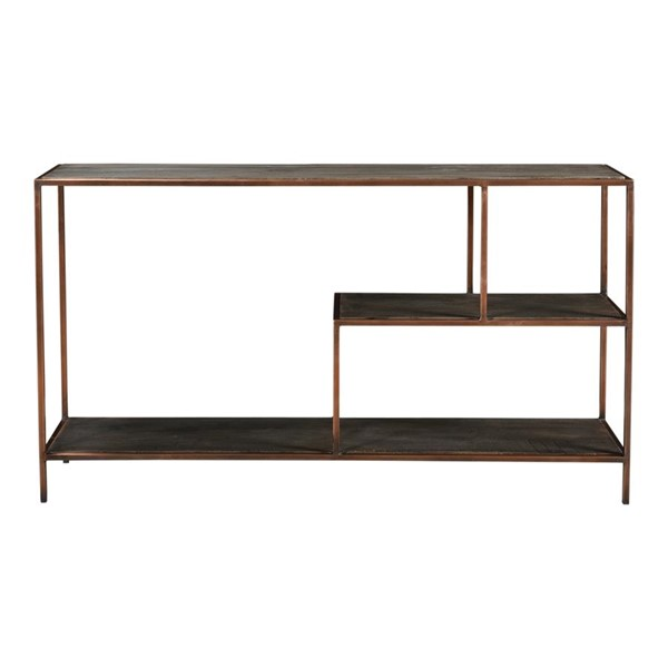 Moes Home Bates Grey Wood Rectangle Console Table MOE-DR-1318-15