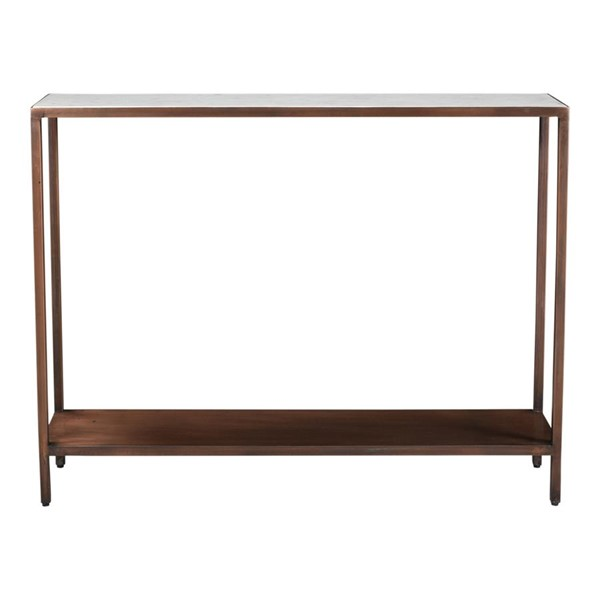Moes Home Bottego Antique Copper Marble Top Console Table MOE-DR-1320-50