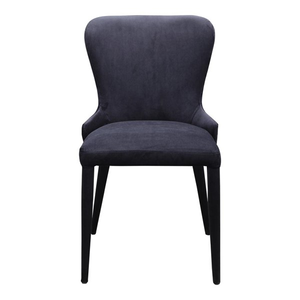 2 Moes Home Cleveland Black Dining Chairs MOE-EH-1106-02