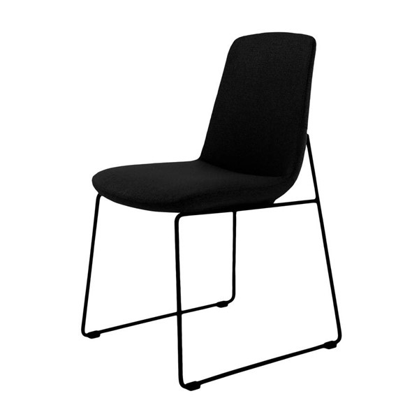 2 Moes Home Ruth Black Dining Chairs MOE-EJ-1007-02
