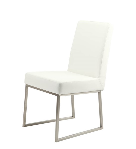 2 Moes Home Tyson White Dining Chairs MOE-ER-2012-18