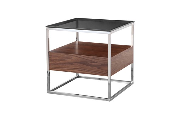 Moes Home Cubix Dark Brown Side Table MOE-ER-2044-20
