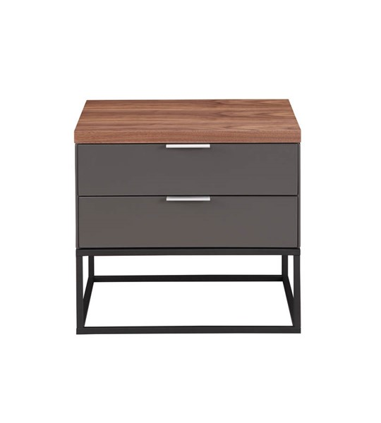 Moes Home Leroy Dark Grey Drawers Side Table MOE-ER-2056-25
