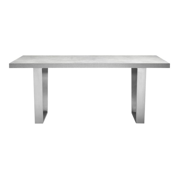 Moes Home Mason Light Grey MDF Rectangle Dining Table MOE-ER-2074-29