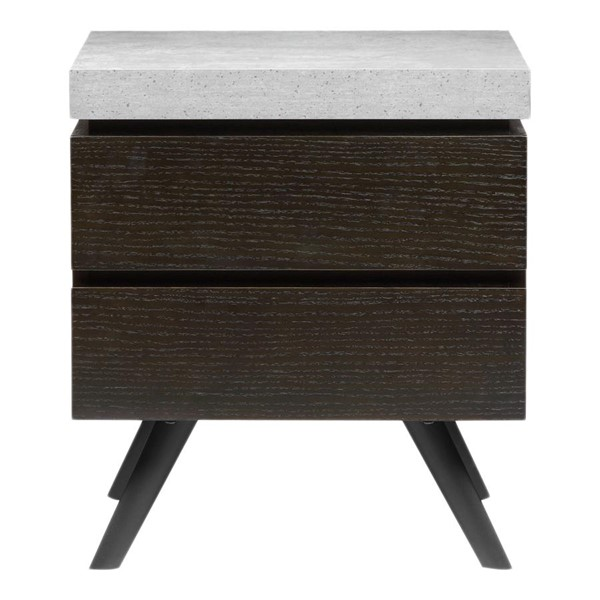 Moes Home Quincy Light Grey 2 Drawers Side Table MOE-ER-2080-29