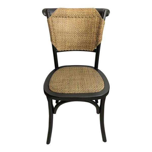2 Moes Home Colmar Black Dining Chairs MOE-FG-1011-02