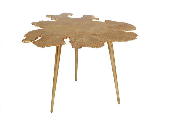 Moes Home Amoeba Gold Side Table MOE-FI-1006-32