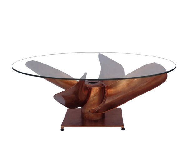 Moes Home Archimedes Copper Coffee Table MOE-FI-1062-42