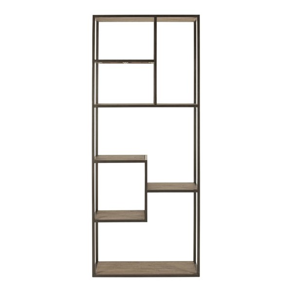 Moes Home Sierra Wood Tall 7 Shelves Bookshelf MOE-FR-1020-23