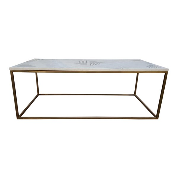 Moes Home Quarry White Marble 3pc Coffee Table Set MOE-GZ-1001-OCT-S1