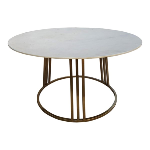 Moes Home Carter White Round Coffee Table MOE-GZ-1004-18