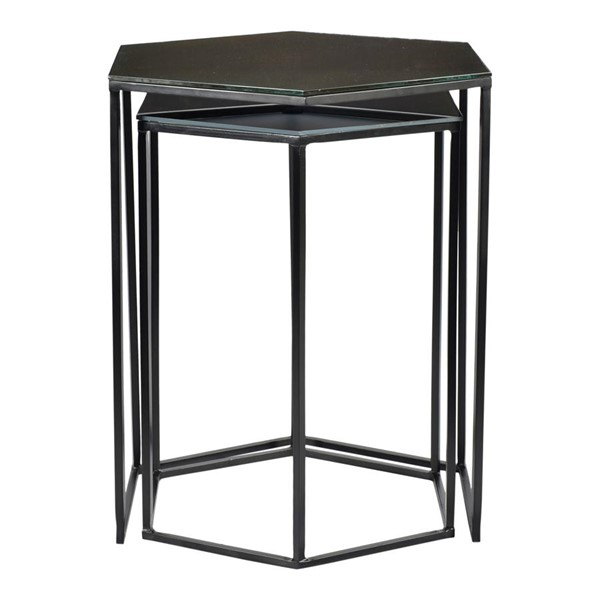 Moes Home Polygon Black 2pc Accent Table MOE-GZ-1008-02