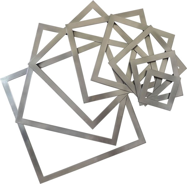 Moes Home Silver Squares Wall Decor MOE-HZ-1017-30
