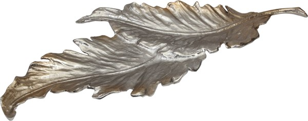 Moes Home Silver Fallen Leaves Tray MOE-IX-1046-30