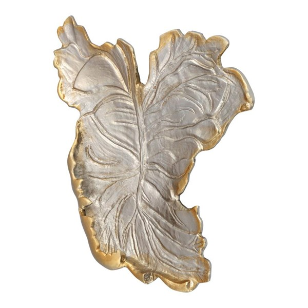 Moes Home Nickel Champagne Leaf Tray MOE-IX-1059-44