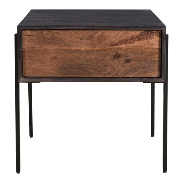 Moes Home Tobin Light Brown Wood Square Side Table MOE-JD-1002-12