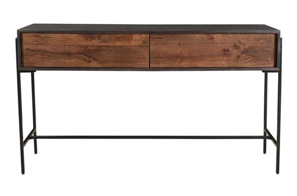 Moes Home Tobin Light Brown Wood 2 Drawers Console Table MOE-JD-1003-12