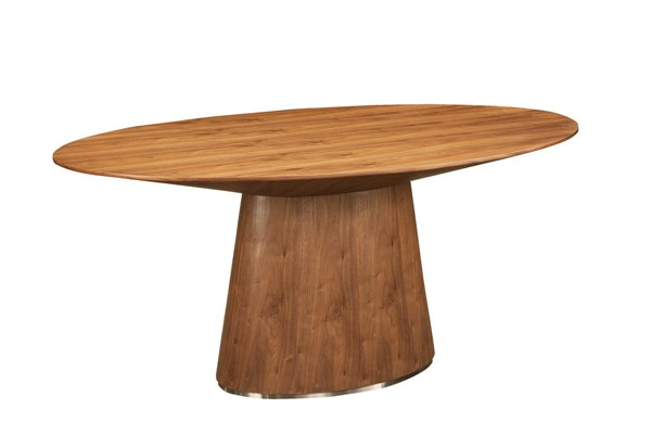 Moes Home Otago Brown Oval Dining Table MOE-KC-1007-03