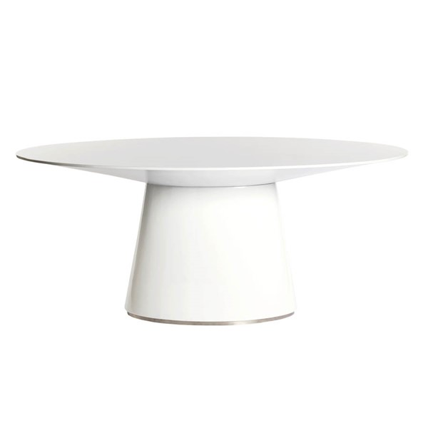 Moes Home Otago White Oval Dining Table MOE-KC-1007-18