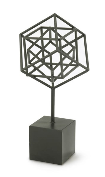 Moes Home Black Small Nested Cubes On Stand MOE-MH-1047-02