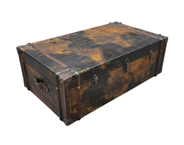 Castle Designs Gullivers Antique Trunk Coffee Table CTL-ML-1006-01