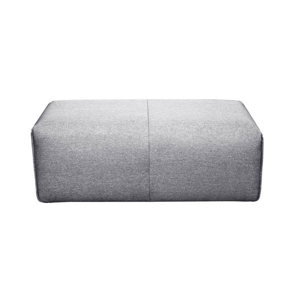 Moes Home Nathaniel Light Grey Ottoman MOE-MT-1010-15