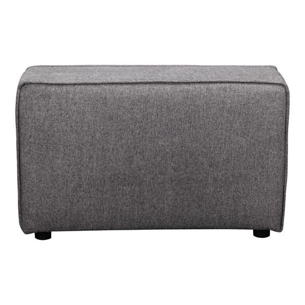 Moes Home Rodeo Charcoal Grey Fabric Rectangle Arm MOE-MT-1013-07