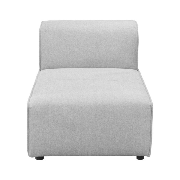 Moes Home Rodeo Light Grey Fabric Modern Chaise MOE-MT-1017-29
