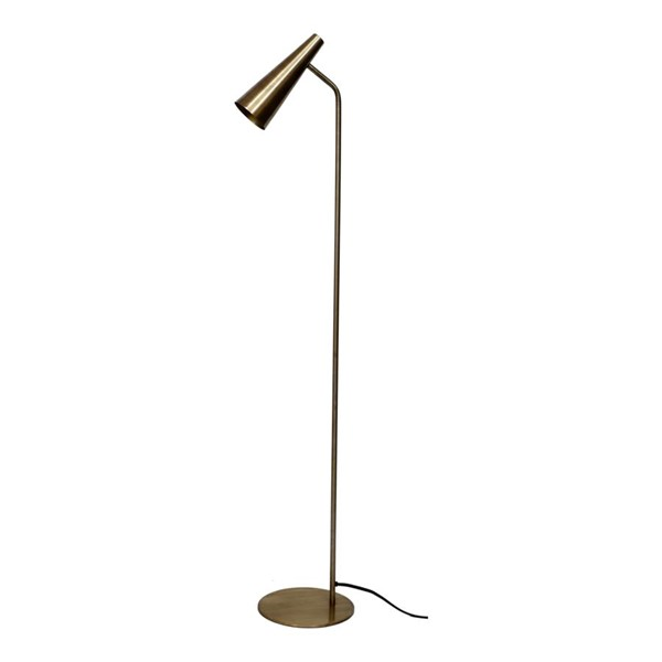 Moes Home Antique Brass Trumpet Floor Lamp MOE-OD-1007-51