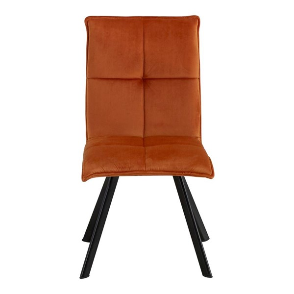 2 Moes Home Modern Orange Fabric Dining Chairs MOE-OK-1001-12