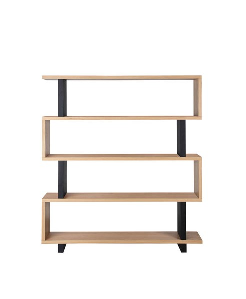 Moes Home Denecker Natural White Large Bookshelf MOE-OU-1002-24