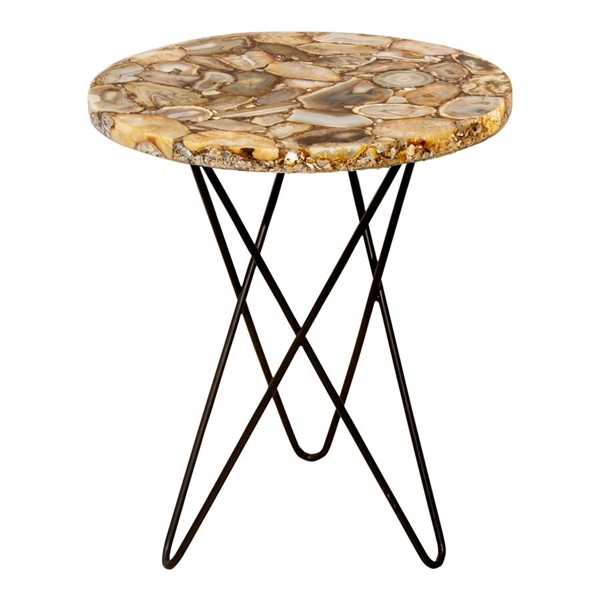 Moes Home Natura Natural Agate Accent Table MOE-PJ-1001-24