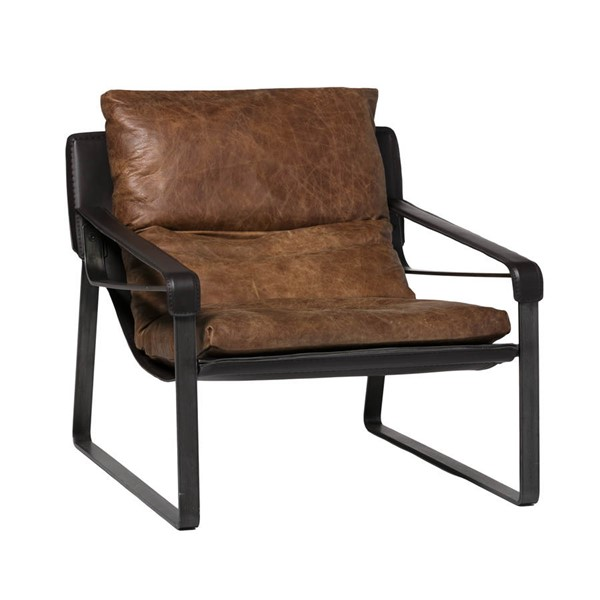 Moes Home Connor Cappuccino Club Chair MOE-PK-1044-14