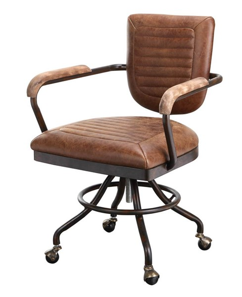 Moes Home Foster Leather Swivel Desk Chairs MOE-PK-1049-CH-VAR