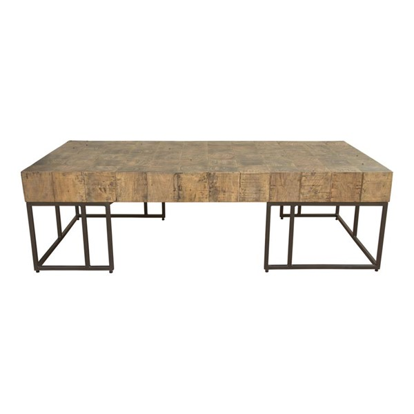 Moes Home Crosscut Natural Rectangle Coffee Table MOE-PP-1009-24
