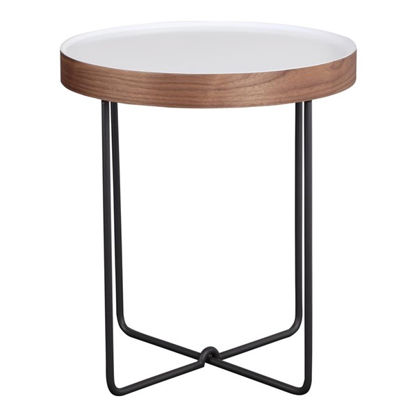 Moes Home Lenor White MDF Modern Side Table MOE-PX-1003-18