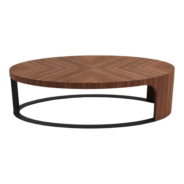 Moes Home Emma Brown MDF Oval Coffee Table MOE-PX-1008-03